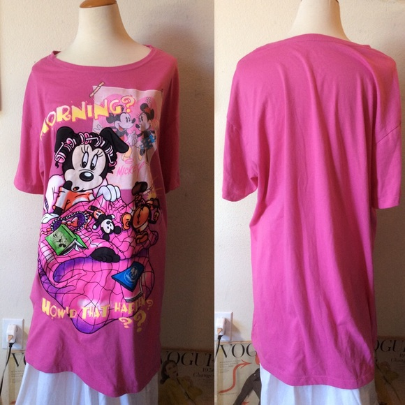 Disney Other - New Minnie Mouse Pajama Tee Sleep dress shirt